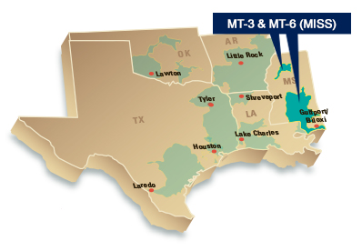Transportation Services area map Mississippi