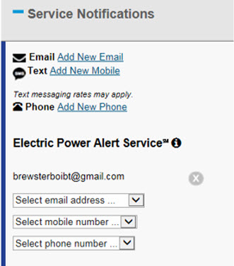 Service Notifications PA Sample Screenshot