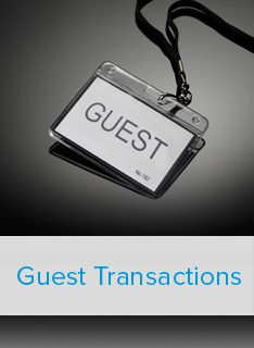 One-time account access for guest transactions