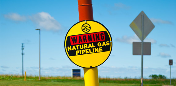 natural gas pipeline warning