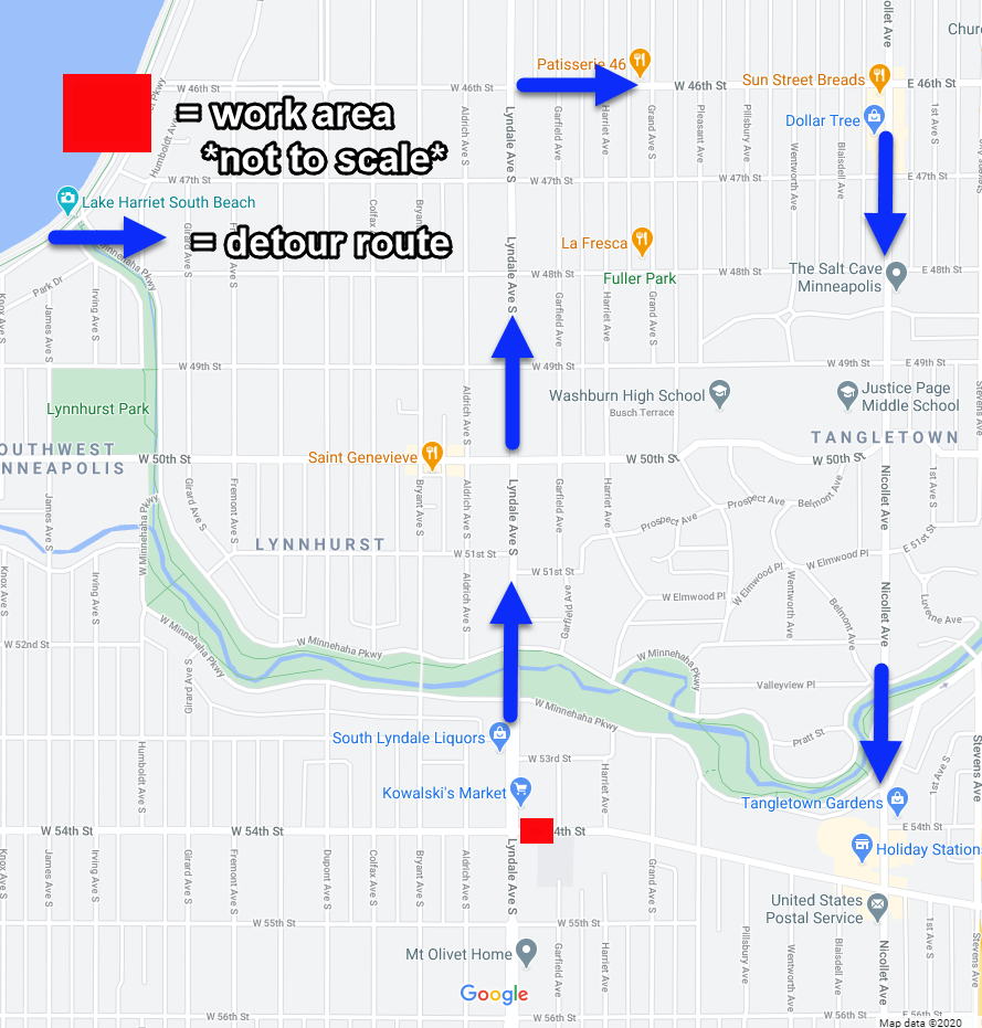 CNP Map of 54th St W Closure Oct and Nov.png