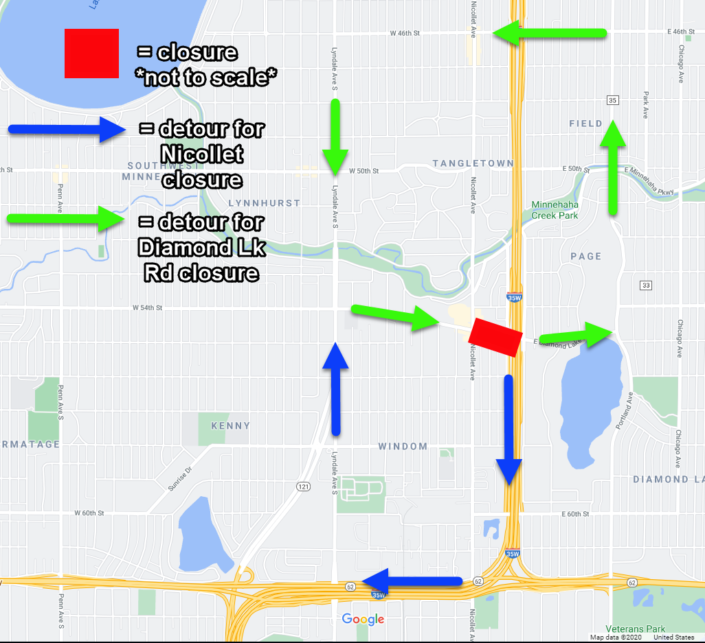 CNP Map of Nicollet and Diamond Lk Detours.png